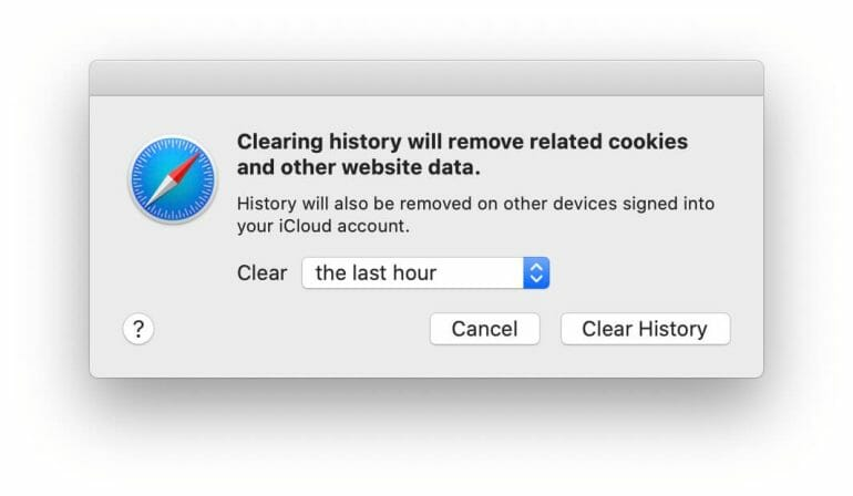 Safari - Clear History