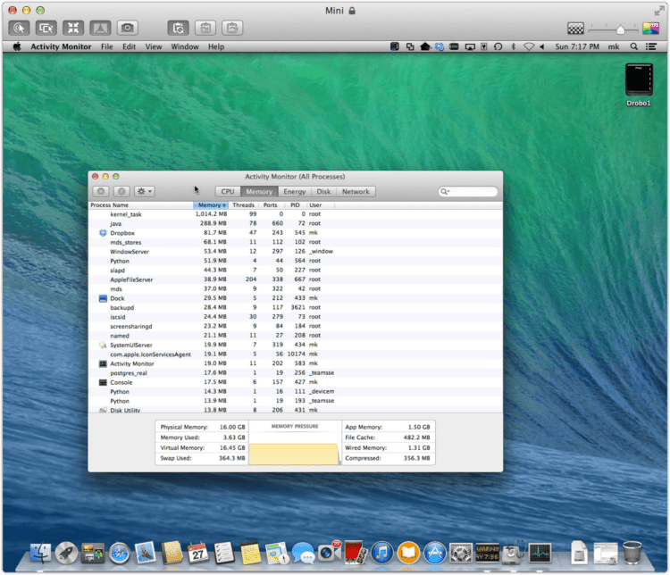 OS X Mavericks bug: Your system has run out of application memory