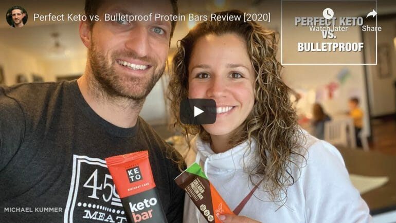 Perfect Keto vs. Bulletproof snack bars comparison
