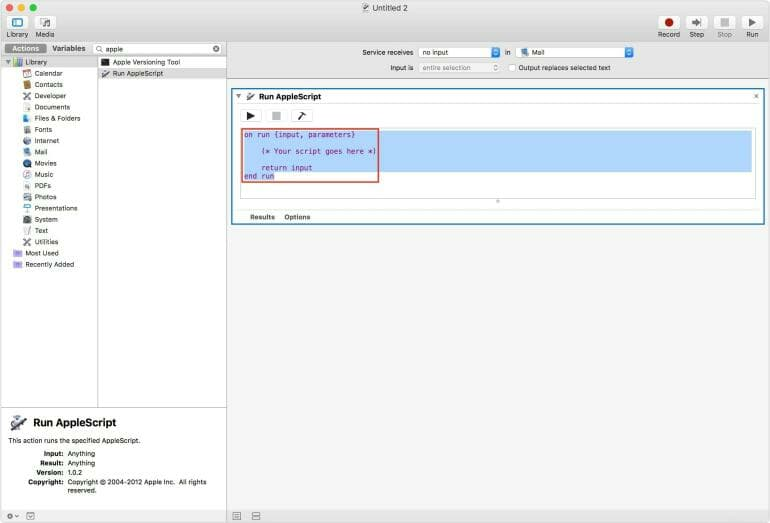 Shortcut to create reminders in Apple Mail and other applications