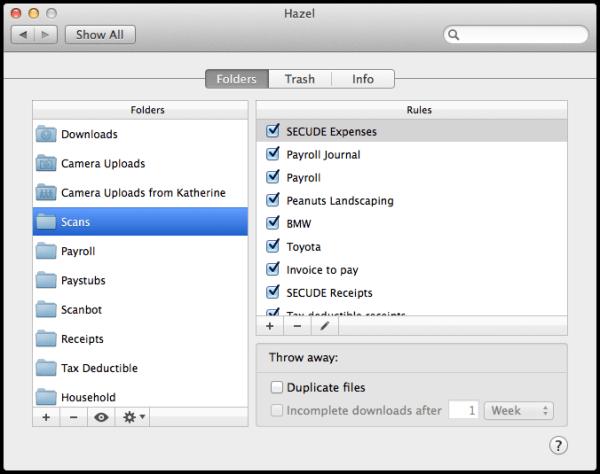 Add Scan folder so Hazel can monitor it