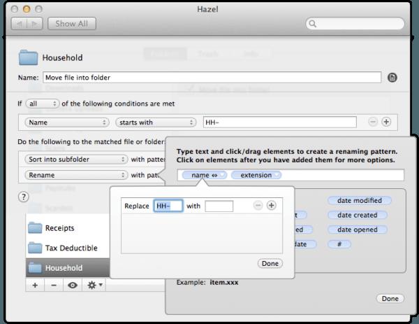 Remove HH- prefix