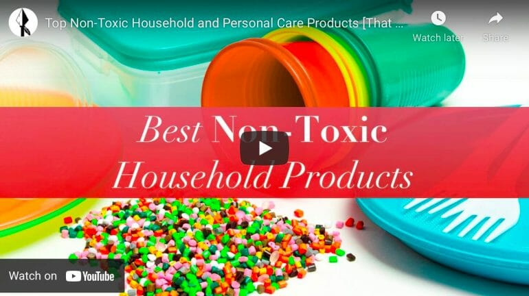 Graphic about non-toxic household products.