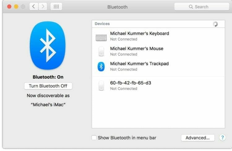 Mac Bluetooth issues affect keyboard and trackpad