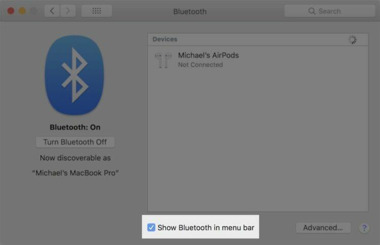 Show Bluetooth in menu bar - Mac Bluetooth issues