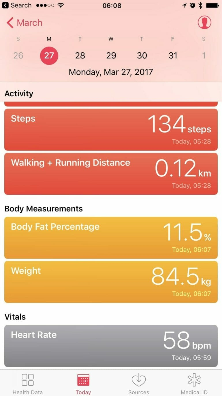 Workaround: Fitbit support for Health app and HealthKit