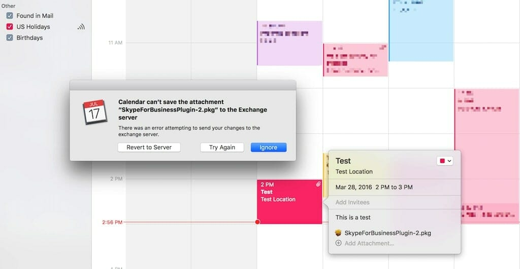 ical not updating