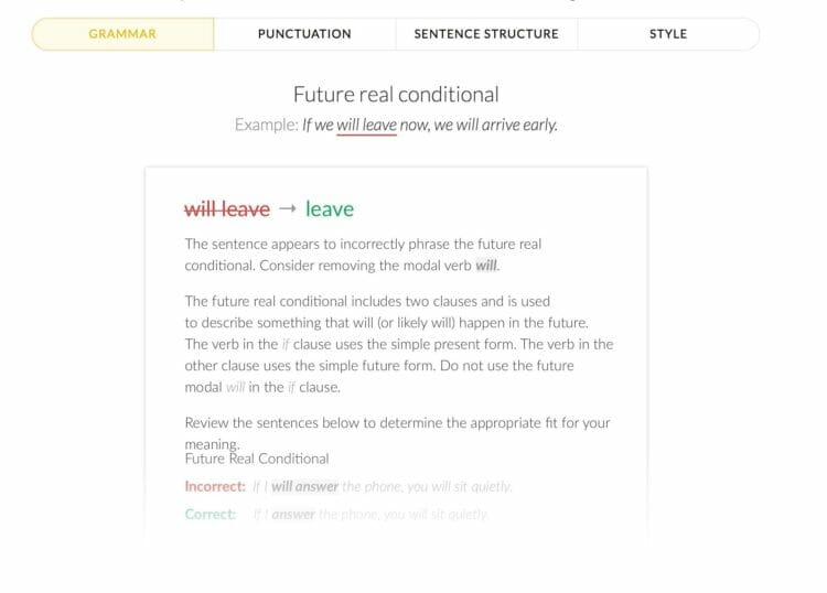 Future Real Conditional