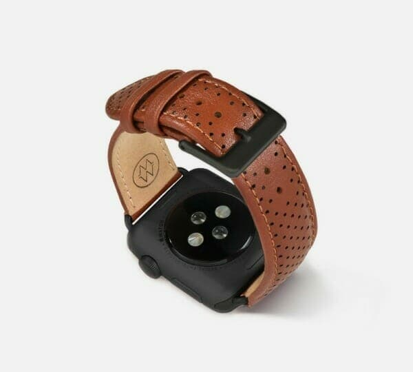 Perforated Leather Band by Monowear