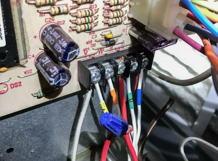 Wiring on HVAC control board