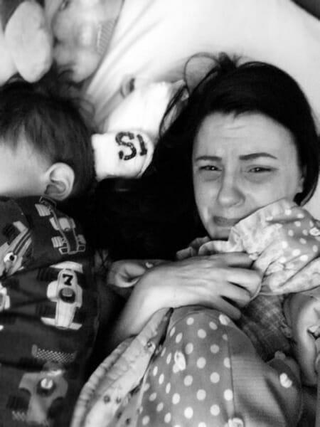 Jordan DeRosier with her other son