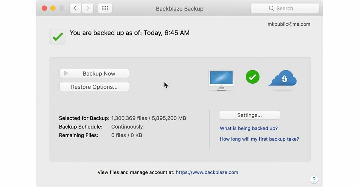 Backblaze vs. CrashPlan - Comparison of cloud backup solutions