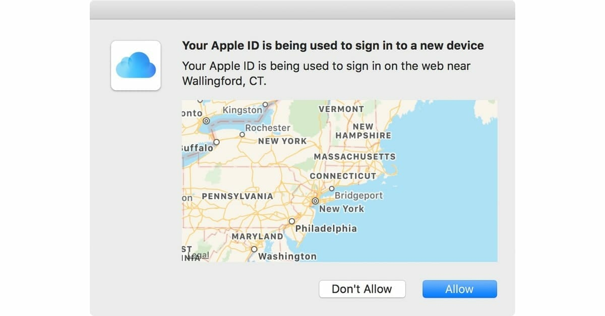 Why Apple shows a strange location for a two-factor login confirmation