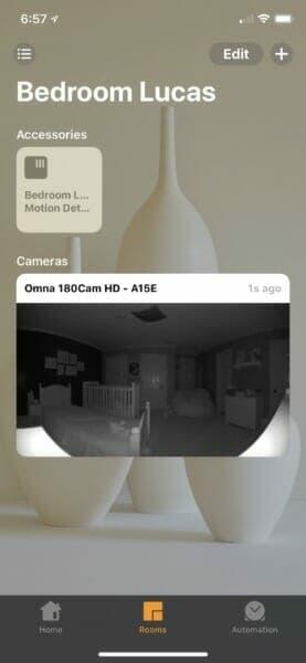 Baby room in Home app