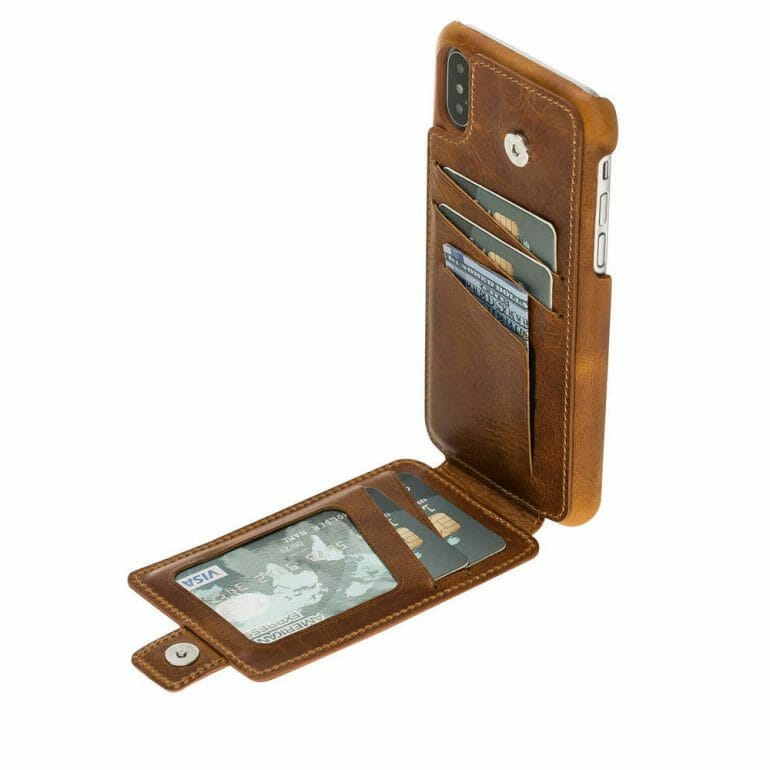 Burkley Leather Snap on Case with Attached Wallet