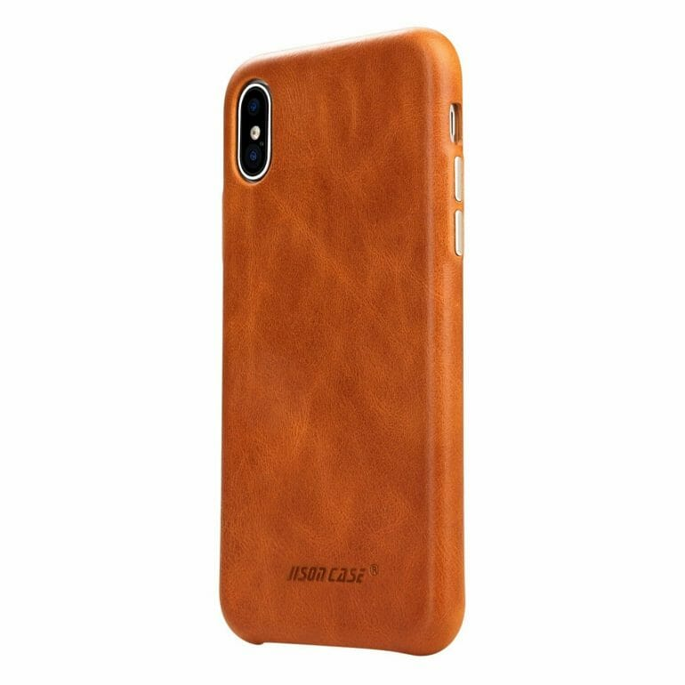 Jisoncase - Leather Case is one of the thinnest Leather cases in the test
