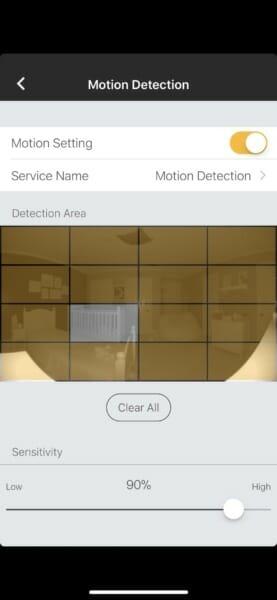 Omna 180 Motion Sensor settings