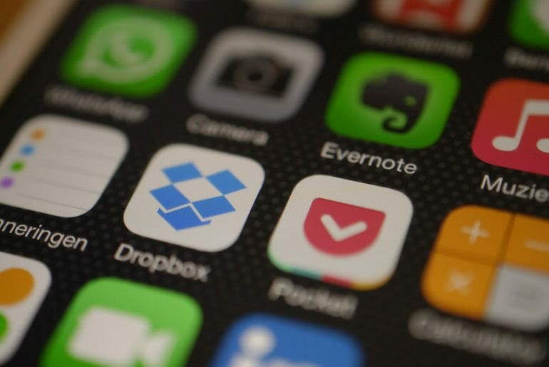Dropbox on iOS