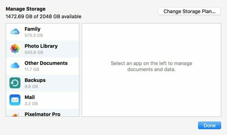 iCloud Storage Overview