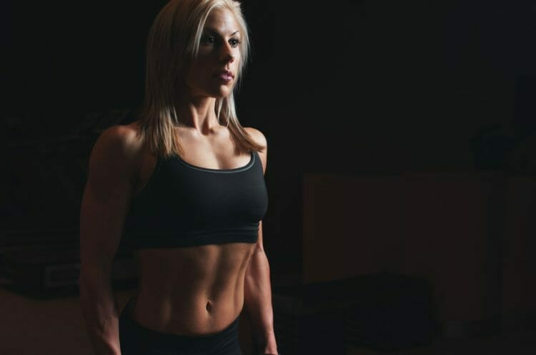 Fit blonde athlete