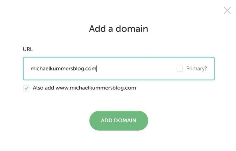 Flywheel - Add a new domain