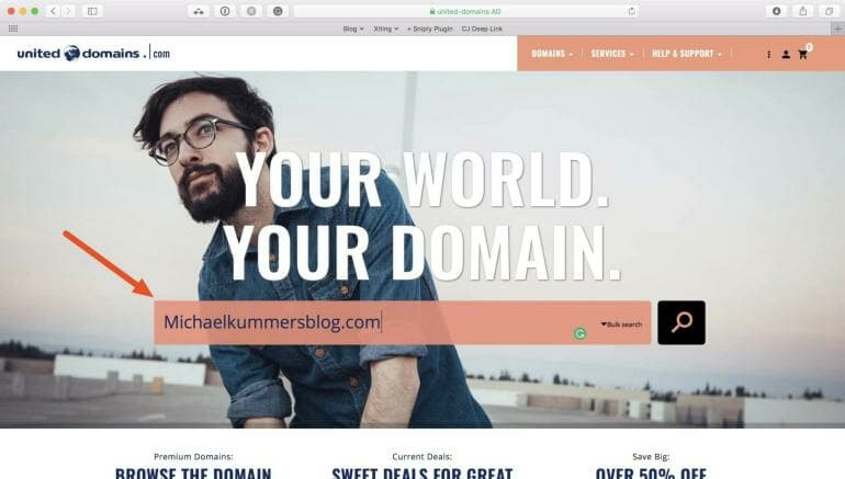 United Domains - Check if domain is available