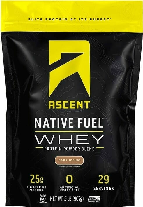 Ascent Native Fuel Whey - Best natural protein powders for building muscle and CrossFit