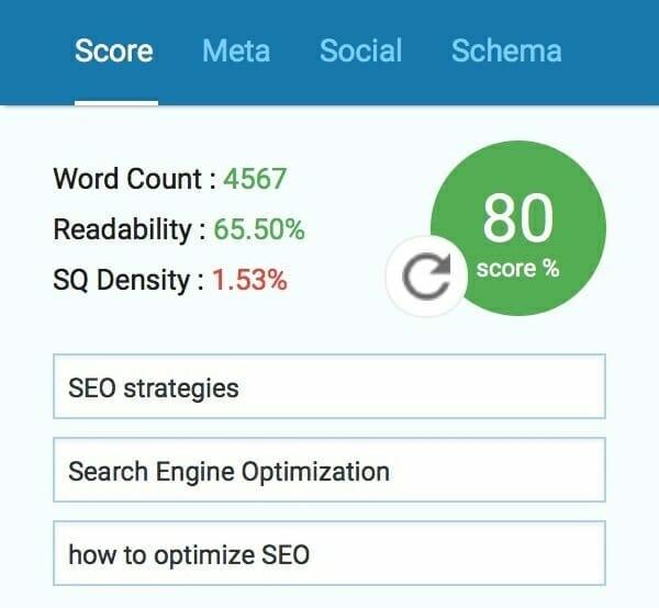 SEOPressor: Overall score