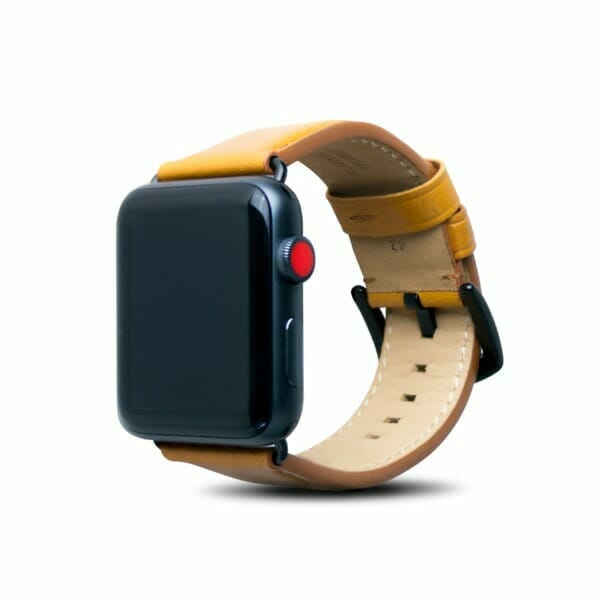 Apple Watch 42mm Leather Strap – Caramel