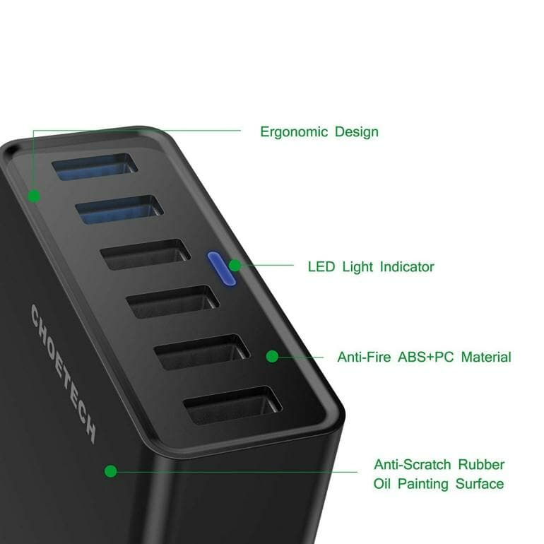 CHOETECH Desktop Charger Features