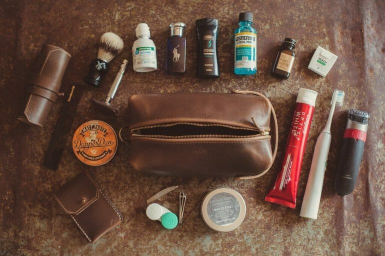 Range Leather Travellr Dopp Kit