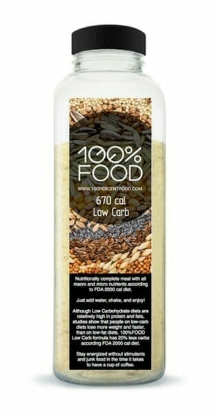 100%Food - Low carb meal replacement shake
