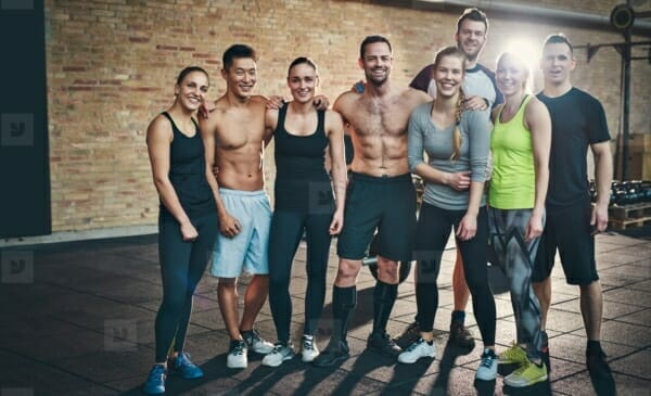Fit people hang around with other fit people