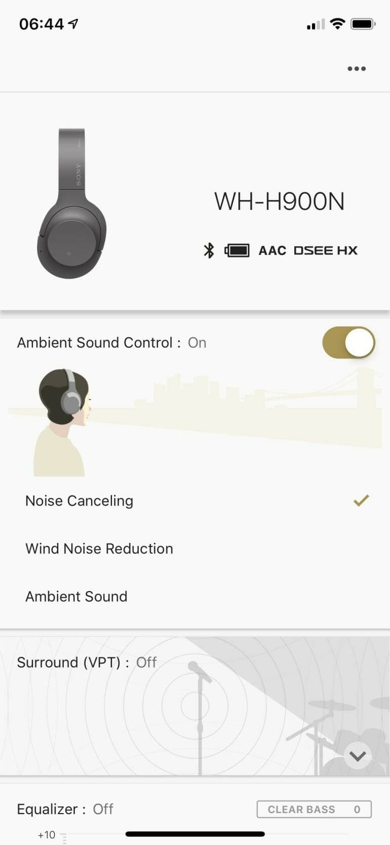 Sony Mobile App - Ambient Sound Control