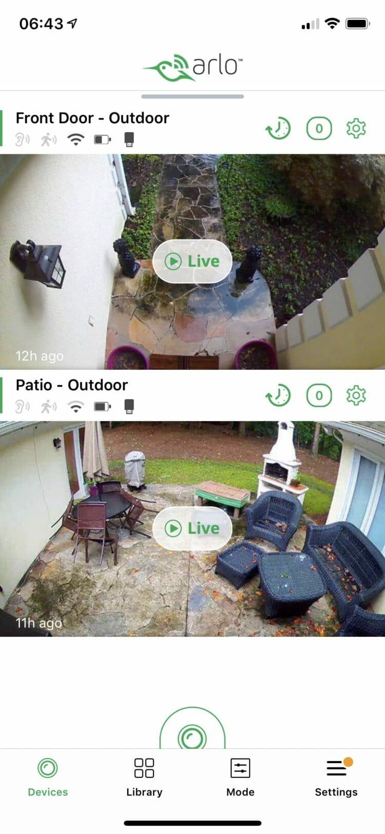 Arlo app - Camera Stream