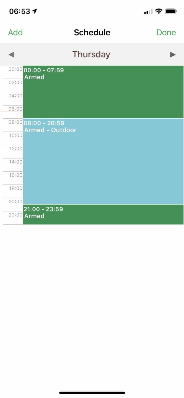 Arlo app - Custom schedules