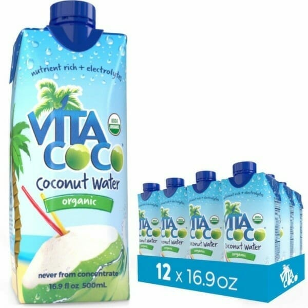 Vita Coconut Water is an excellent source of electrolytes