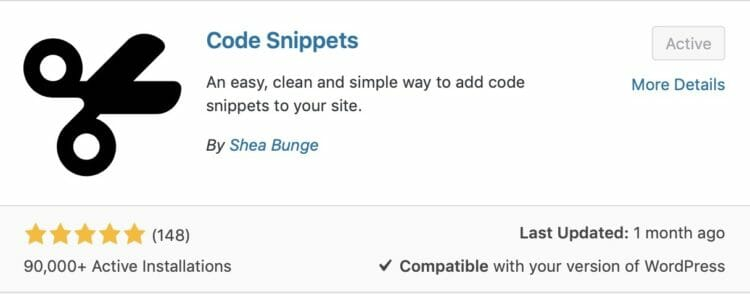 Code Snippets Plugin
