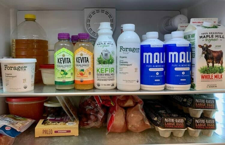 Dairy and dairy alternatives in our fridge