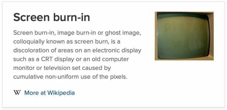 Screen burn-in - Wikipedia