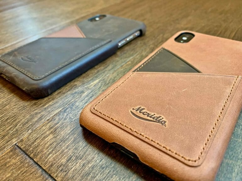 Meridio Genuine Leather Cases - Side by Side