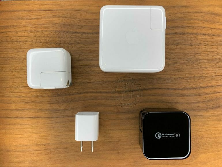 Various Apple and 3rd-Party Power Adapters