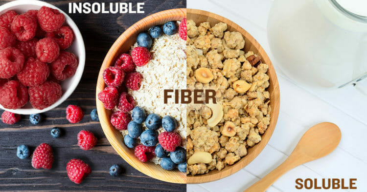 Food with Insoluble and Soluble Fiber