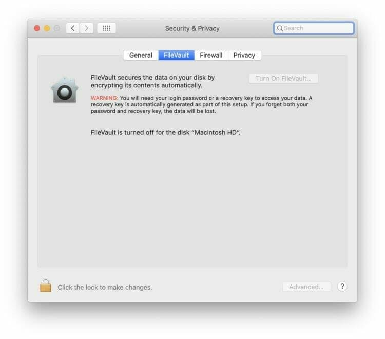Apple FileVault