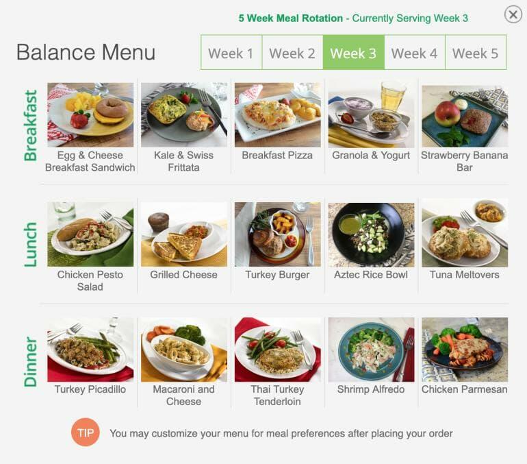 Diet to Go Week 3 Menu