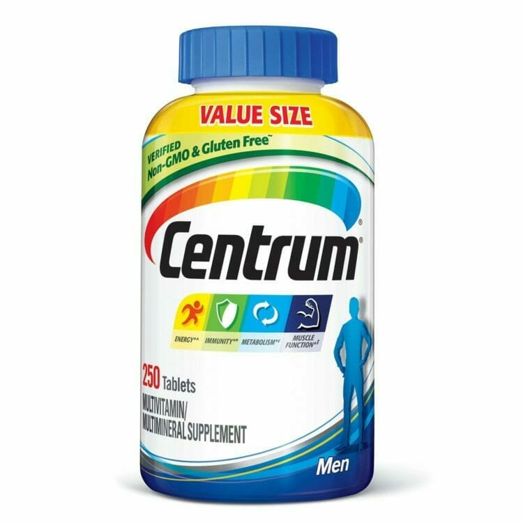 Centrum contains only synthetic vitamins