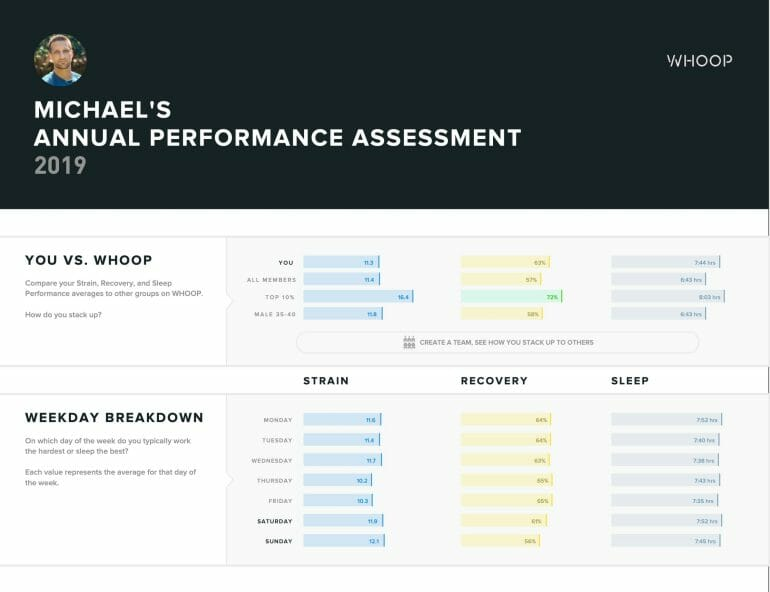 Michael's Annual Performance Assessment - WHOOP