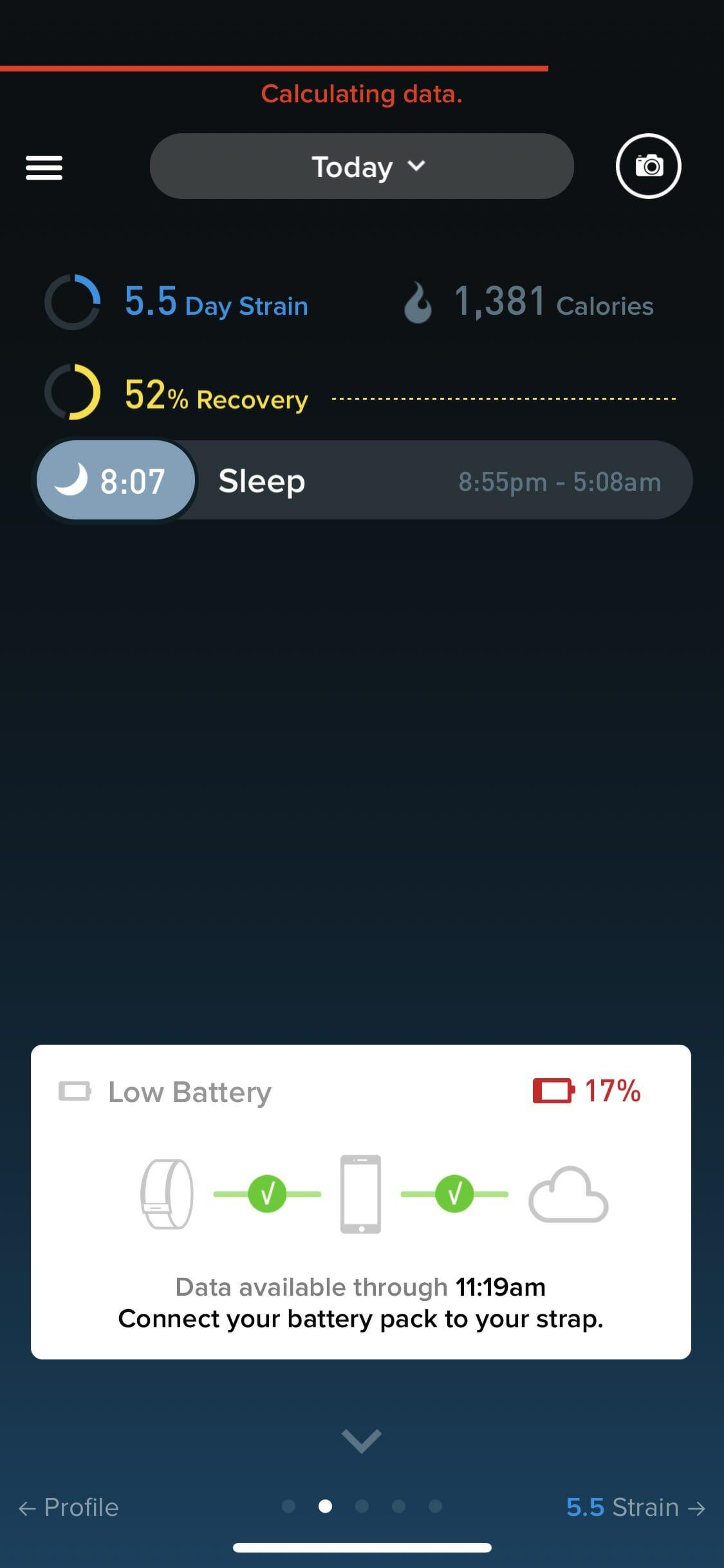 WHOOP - App - Low Battery