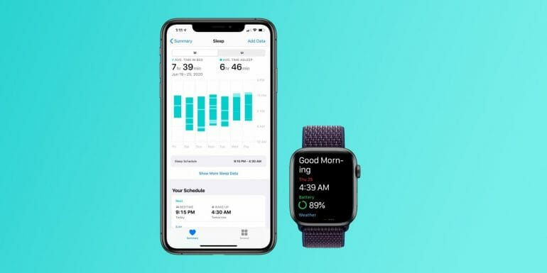 Apple Watch sleep tracking in watchOS 7