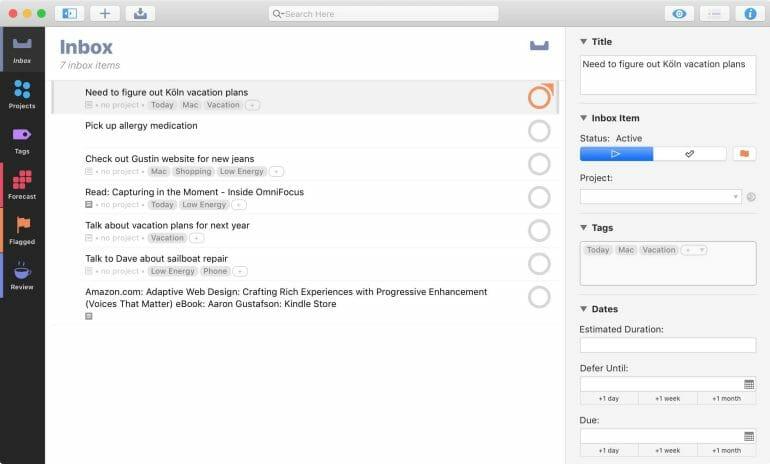 OmniFocus - Task Management